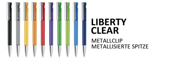 LIBERTY Clear-Metallclip & Spitze
