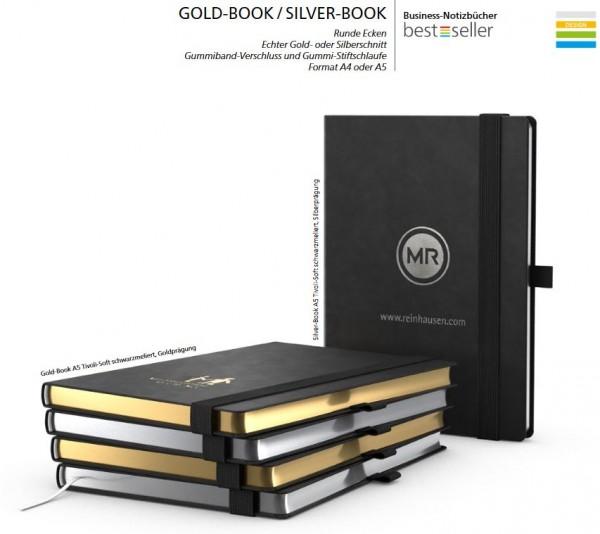 GOLD-Book Notizbuch DIN A5
