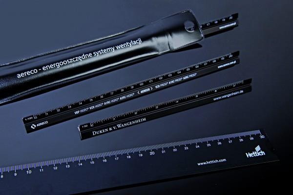 Aluminium Dreikantlineal 30 cm